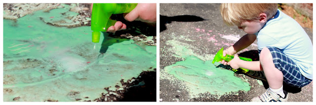 Homemade Fizzy Sidewalk Paint Recipe