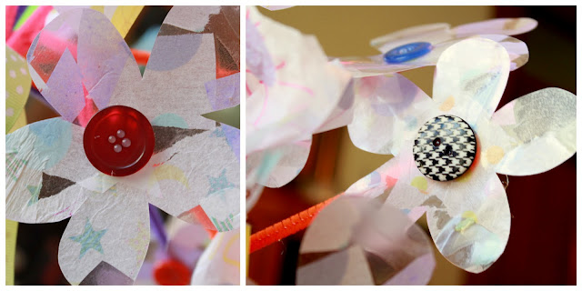 Mothers day craft for kids to make tissue paper flowers tissue paper flowers on contact paper mightylinksfo