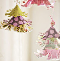 Flared Christmas tree ornaments