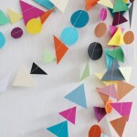 """Make it Kid Friendly"" Idea: Geometric Garland"