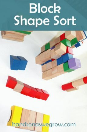 Block Activity for Kids Sorting by Shape