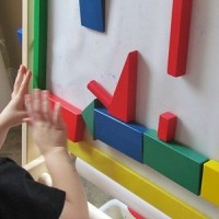 Using Blocks on a Sticky Easel