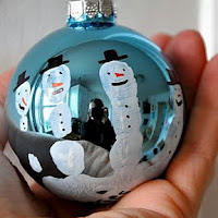 Handprint snowman ornament