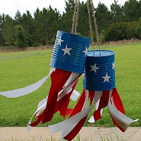 Tin can wind sock for 4th of July