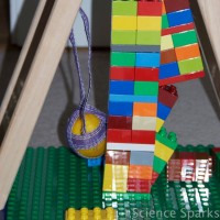 Testing lego structure stability activity fro kids