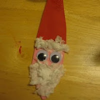 Foam Santa Ornament