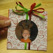 Wrapped photo, 1 of the 30 homemade ornaments for kids