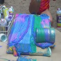 Rolling tin cans painting