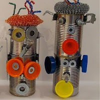 Tin can magnetic robot