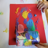 Paint with tin cans