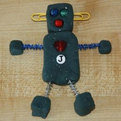 play dough robot