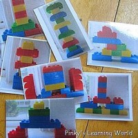 Lego Photos to rebuild activity for kids