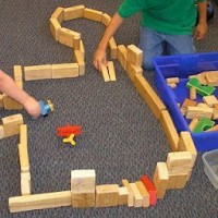 Build an Airport with wooden blocks
