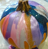 Drip painting. One of the 40 pumpkin activities for kids.