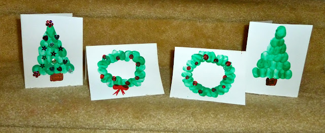 Cute Crafty Fingerprint Christmas Cards For Kids To Make Hoawg