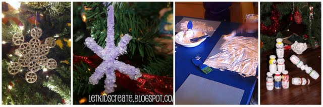 snow activities and crafts for the holidays