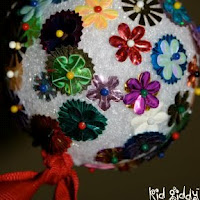 Sequined ball homemade ornament