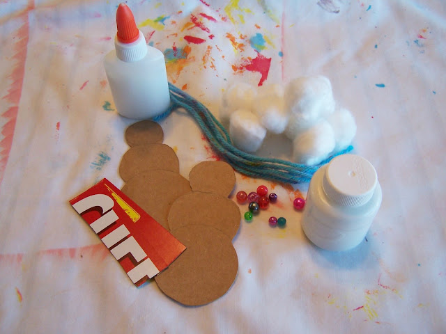 winter craft snowman finger puppets