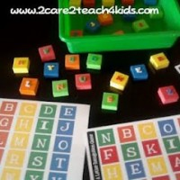 ABC Matching and Letter Recognition learning activity