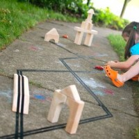 Building Blocks with Tape Roads