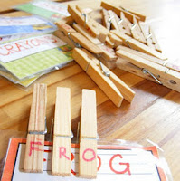 Use clothespins for fine motor skills