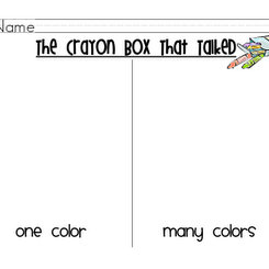 crayon box activity