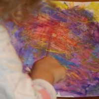 crayons and shaving cream