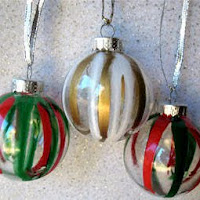 Drip painted ornament