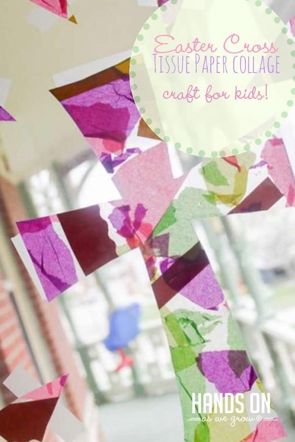Tissue Paper Cross Easter Craft For Kids To Make Hoawg