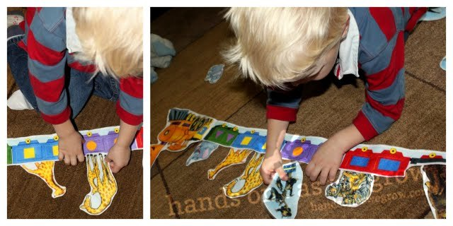 imaginary play with felt boards