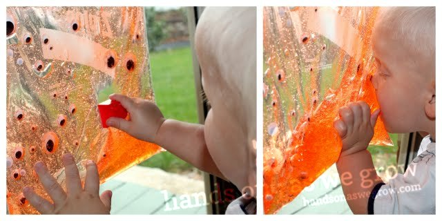 toddler sensory bag for Halloween