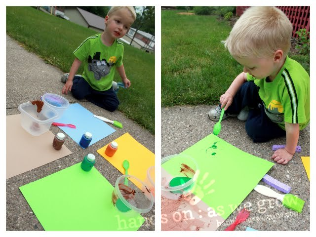 eric carle style painting