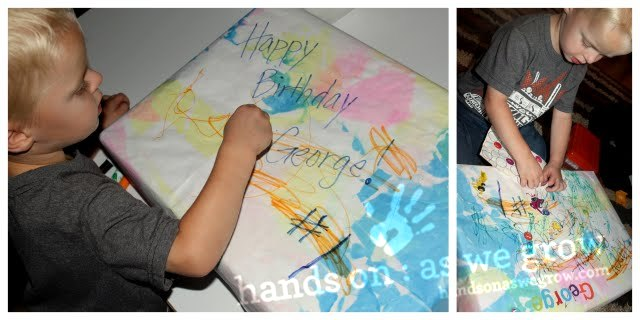 create your own DIY wrapping paper