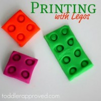 Lego Play Dough Prints for Kids