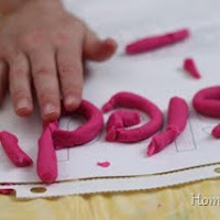 Use play dough in fine motor activities