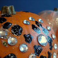 Pumpkin bling. One of the 40 pumpkin activities for kids.