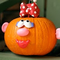 Mr. Potatohead Pumpkin. One of the 40 pumpkin activities for kids.