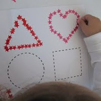 Use stickers in fine motor activities