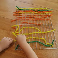 Do weaving for fine motor skills