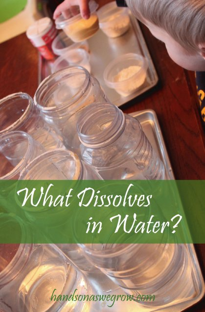 Kids Experiment, What Dissolves in Water?
