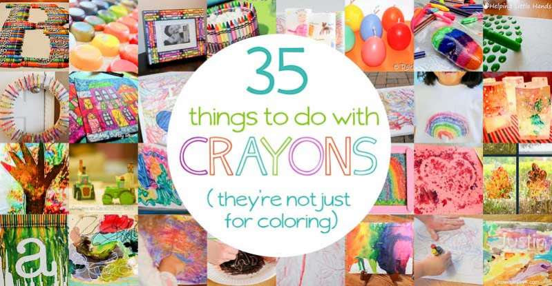 What To Do With Crayons 35 Uses For Crayons