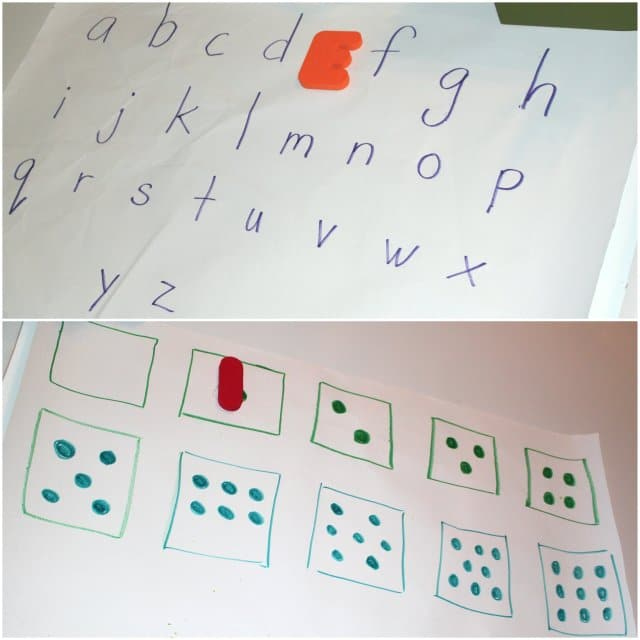 Scavenger Hunt with Letters and Numbers