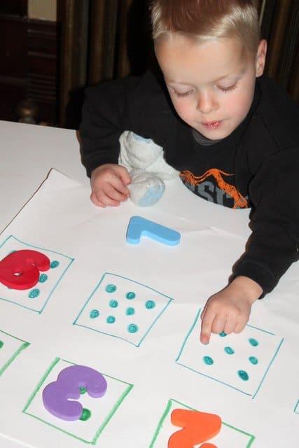 A letter and number scavenger hunt for preschoolers