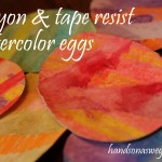 Holiday Egg Art: Crayon & Tape Resist Watercolor