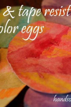 Crayon & Tape Resist Watercolor Easter Eggs