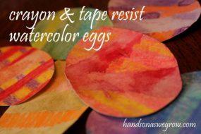 Crayon & Tape Resist Watercolor Easter Eggs