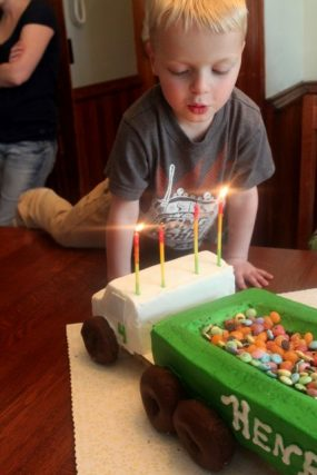 A First Birthday Celebration Henrys Semi Truck 4th Party