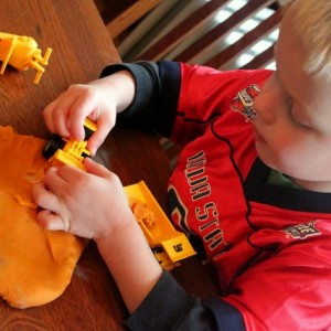 Preschool play dough construction site