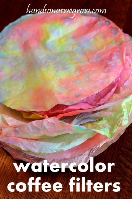 Mother's Day Craft watercolor coffee filters