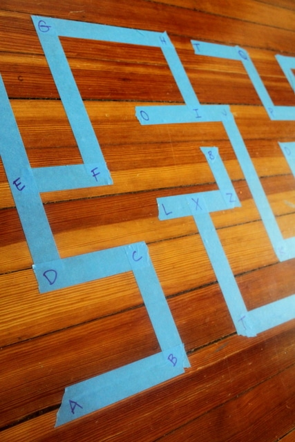 Alphabet Maze Activity for Kids